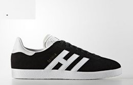 Wholesale Classic Shoes Online - 2017 high Quality suede Gazelle Retro classic black HUMAN RACE Shoes In Yellow white red blue green black grey pink eur 36-47 cheap online