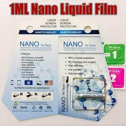 Wholesale Liquid Glass Wholesale - 1ML Liquid NANO Technology Screen Protector 3D Curved Edge Anti Scratch Tempered Glass Guard Film For iPhone X 8 7 Plus Samsung S8 Universal