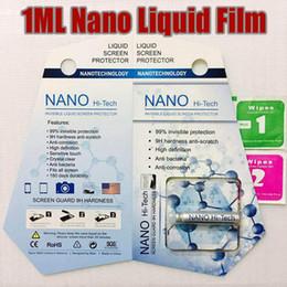 Wholesale Liquid Film - 1ML Liquid NANO Technology Screen Protector 3D Curved Edge Anti Scratch Tempered Glass Guard Film For iPhone X 8 7 Plus Samsung S8 Universal