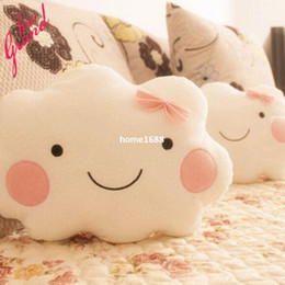 Wholesale Bow Cushions - 2015 New Fashion Cute Pillow One Seat Two Styles Bow Lovely Travesseiro 36*26CM Clouds Sofa Cushion S126