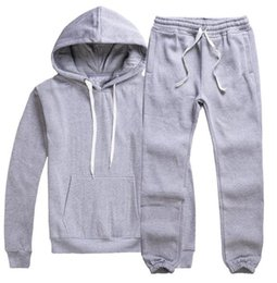 Wholesale Ankle Length Men S Coat - Men's horse tracksuit sets Sports pullover pocket Sweatshirt coat two piece set moleton masculino long sleeved Elastic band pants Casual