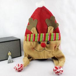Wholesale Cute Snowman Plush - Wholesale-Christmas hats hat performing props Santa Claus cute snowman upscale plush Christmas hats Ch18
