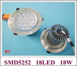 Wholesale Led 18 W - LED ceiling spot light down lamp downlight 18W 1900lm SMD5252 18led 18*1W 18W 110lm W led AC85V-265V high bright new design