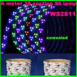 Wholesale Fpc Led - 5 Meters 450 Pixels Individually Addressable Color WS2811 Waterproof 5050 SMD RGB SM1903 LED Strip White FPC 90 LED per Meter DC 12V