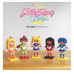 Wholesale Avengers 11 - Bishoujo Senshi Sailor Girls BOYU Diamond Blocks Sailor Moon Mini Blocks Building Toys Educational Toys Gift for Girls