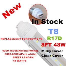 Wholesale Leds 48w - Wholesale R17D Tubes 8ft T8 48W LED fluorecent tube lights 2.4m 240cm 2400mm 26LM LEDS aluminium+PC SMD2835 CE ROHS PSE FCC