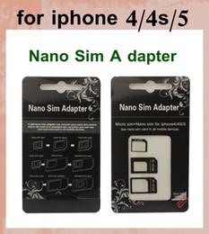 adaptateur nano micro sim Promotion RSIM R-SIM Restauré Nano Carte SIM à Micro Carte SIM ou Standard Carte SIM 3in1 Micro / Nano Carte SIM Adaptateur Peau pour iPhone 4 4S 5 OTH023
