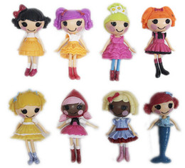 Wholesale New Toys Bulk - 8pcs lot New 8cm MGA Mini Lalaloopsy Doll the Bulk Button Eyes Toys for Girl Classic Toys Brinquedo Puppe Boneca Poupee Bambola