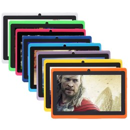 Wholesale Tablet Inch 8gb Mid - New Arrival! iRULU 7 Inch A33 Quadcore Tablet PC 8GB 16GB Android 4.4 1024*600 HD Q88 Dual Camera Wifi MID A33 Tablets