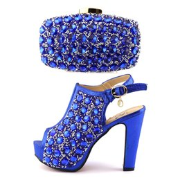 Wholesale Shoes Match Clutches - Italian shoes and clutch bag set ,wholesale shoes matching purse set high heel woman shoes and bag set with rainstones
