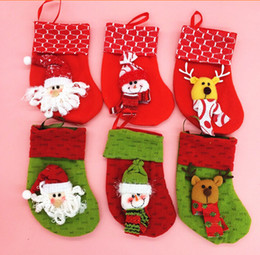 Wholesale Christmas Design Items - Christmas items Christmas Stockings Christmas decorations Xmas scene mini Stocking 6 designs