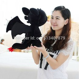 Wholesale Toothless Dragon Puppet Toy - High Quality Anime Soft Toys How to Train Your Dragon 2 Plush Toys Doll Toothless Dragon Plush Aberdeen Night Fury Toy Kids Gift