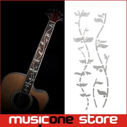 Wholesale Tree Life Decal - Guitar Fret Inlay Stickers Tree Of Life J.Custom Fretboard Decals Marker For Acoustic Electric Guitarra Fret Neck New light Gold MU1288-3