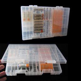 aa embalagem da bateria Desconto Bateria de plástico transparente Caixa de armazenamento rígido Caixa de plástico rígido Case Protector Cases Cases para AAA / AA / C / D / 9V Battery