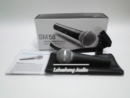 Wholesale Dynamic Vocal Microphone - High quality version SM58LC vocal Karaoke microfone dynamic wired handheld microphone free shipping