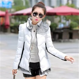 Wholesale Down Women Ae - Wholesale-2015 Hot Sale Winter Jacket Women Casual Ladies Ruffles Winter Parka Solid Lace Down Cotton Coat Size M-2XL AE-AY-035