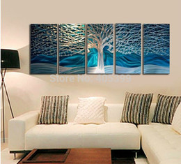 Wholesale Tree Artist Oil Paintings - Directly From Artist Dreaming Tree 100% Handmade Modern Abstract Oil Painting On Canvas Wall Art ,JYJHS062