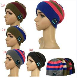 Wholesale Bluetooth Headphones Girls - Bluetooth Music Winter Knitting Hats Wireless Smart Warm Unisex Beanie Caps Boys and Girls Microphone Headphone Handsfree Music Hats