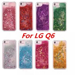 Wholesale Green Glitter Bag - Quicksand Rhinestone Case For LG Q6 MINI G6 PLUS Q6A M700DSK M700AN Glitter Transparent Liquid TPU Cover with opp bags C