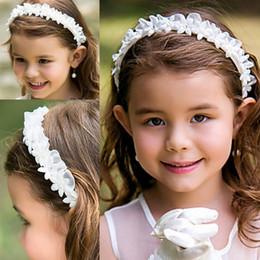 Wholesale Beautiful Hair Flowers - Flower Girl Headbands Toddler Head Flowers Hair Accessories Chiffon Hand Sewing Good Beautiful Girls Headbands Headwear Kids Hair Bands