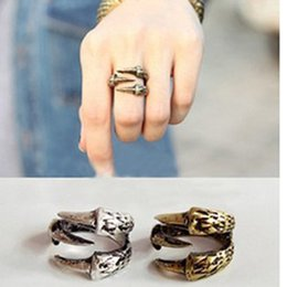 Wholesale Valentines Day Ring Sales - Men Ring Talon Ring Gothic & Punk Jewelry Copper Vintage Jewelry Factory Direct Sale Men's Birthday Valentine Gift 12PCS LOT
