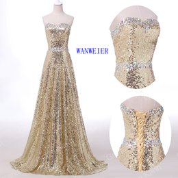 Wholesale Two Piece Dresses Diamond - 2016 New Arrival Fashion Free Shipping Prom Dresses Sheath Sparkly Floor-length Diamond Sequin Strapless Party Evening Dresses