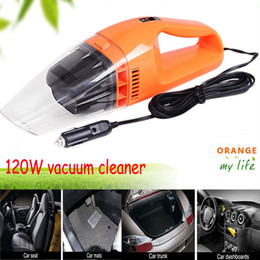 Wholesale 12v Handheld Vacuum Cleaners - Auto Accessories Portable 120W 12V Car Vacuum Cleaner Handheld Mini Super Suction Wet And Dry Dual Use Vaccum Cleaner For Car