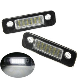 Wholesale Pair License Plate - 2PCS Pair 12V 18 LED SMD License Plate Light Number Plate Lamps Light For Ford Mondeo MK2 White