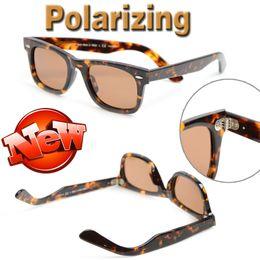 Wholesale Mens Eyeglasses Fashion - High quality Polarized Sun glasses Brand Designer sunglasses Fashion eyeglass UV400 sun glasses mens Womens sunglasses Classic glasses 50mm