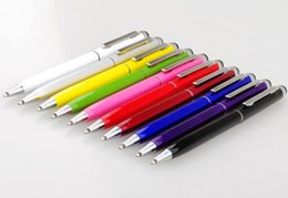Wholesale Asus Stylus Pen - 2 In 1 Capacitive Touch Screen Writing Stylus Ball Point Pen For iPhone iPad Samsung ASUS ACER Tablet PC HTC Lenovo CellPhone
