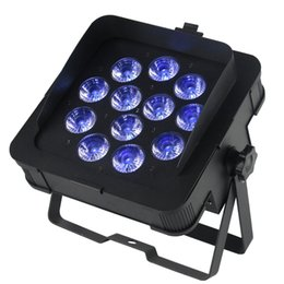 Wholesale Dj Uv Lights - New MF-P1218 Dj LED Slim Par Lights DJ Lighting Wash Light With 6in1 RGBWA UV Led Lamp DMX 6 10 Channels
