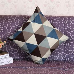 Wholesale Polyester Sofa - Vintage Throw Pillow Case Sofa Waist Pillow cases Car Cushion Cover Home Decor Geometric Decorative Square Pillow Cushion Cover