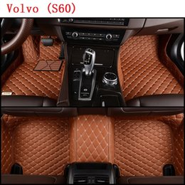 Wholesale Weather Floor Mats - SCOT Custom-Fit All Weather Leather Car Floor Mats for Volvo S60 2010-2017 Waterproof 3D Anti-slip Carpets Left Hand Drive Model