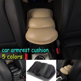 Wholesale Center Console Box - Hot sales Car Auto Armrests Cover Vehicle Center Console Arm Rest Seat Box Pad Protective Case Soft PU Mats Cushion Universal
