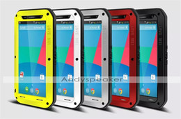 Wholesale Proof Love - 1pcs Love Mei for Nexus6 Straight Powerful Case Water Dirt Shock Proof Metal Aluminum Case Colorful