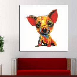 Wholesale Funny Dog Art - Funny Product Animal Paintings Smile Dog Canvas Oil Painting Hand Painted Decor Art Living Room Best Gif