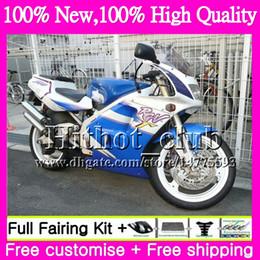 95 suzuki online-Motorradverkleidung für SUZUKI RGV250 VJ22 90 91 92 93 94 95 96 38HT19 RGV-250 Werksblau VJ 22 RGV 250 1990 1991 1992 1994 1994 1995