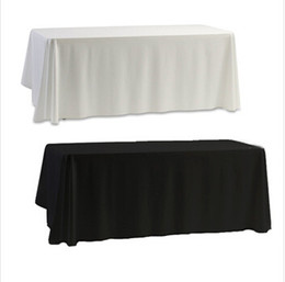 Wholesale Tablecloth Table Cover White Black for Banquet Wedding Party Decor x145cm new