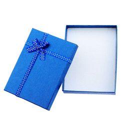 2019 bague en plastique en chine 6pcs Mix Bijoux Boîte De Cadeau Avec Ruban Pour Collier Bracelet Anneau 12 cm x 16 cm Vitrine boîte de cadeau