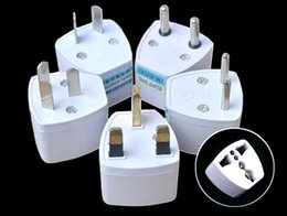 Wholesale Travel Adaptors Uk - 3 Pin AC Power Plug Adaptor Connector Universal Travel Adapter AU US EU to UK Adapter Converter
