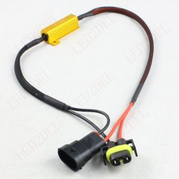 luces de carga Rebajas H8 H11 Advertencia Sin error Carga de resistencia libre Cancelador Desvío Cableado Decodificador Para coche LED DRL Fog Driving Lights
