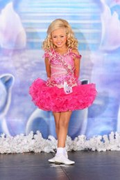 Wholesale Hot Pink Toddler Dress - 20156 Pretty Fushia Organza Toddler Girls Pageant Dresses Spaghetti Beaded Crystals Ruffles Lovely Hot Tiered Girls Formal Dresses