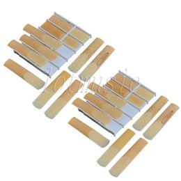 Wholesale reeds for sax - Wholesale- 2Set Boxes Soprano Saxophone Mouthpiece Reeds 2-1 2 Size For Bb Soprano Sax Replacement