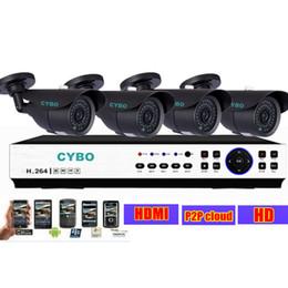 Wholesale Ip Dvr Security System - Home CCTV security camera 264 DVR system 1080P 960h IP cloud DVR 800TVL Outdoor Video Surveillance Camera Systems DIY Kits set