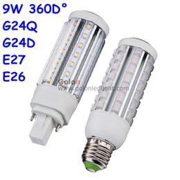 Wholesale Plc Corn - G24 LED PLC light 11W 9W 7W 5W CFL bulb LED replacement 120V 230V 277V 4000K 5000K 6000K DHL Fedex free shipping