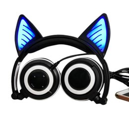 Wholesale Cat Stereos - LX-BL108 lucky fashional Wireless Bluetooth Glowing Cat Ear Headset
