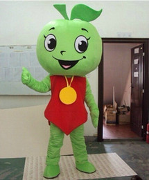 Trajes de manzana verde online-Disfraces de la mascota de Apple verde Vestido de fiesta Disfraces de la mascota de Apple Vestido de fiesta Disfraces de Apple Navidad de Navidad