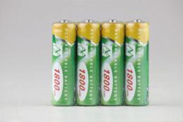 Wholesale R C Lights - Free Shipping 4pcs AA1800mAh Ni-MH Rechargeable Battery Digital Camera Battery R C Toys Battery Solar Light Garden Light Battery