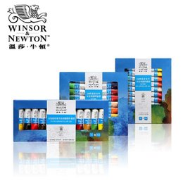Wholesale Drawing Professional - Wholesale-Winsor&Newton 18-24 Colors Professional Water Color Paints Artists Watercolor Painting Pigment Watercolors Set For Drawing New