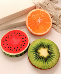 Wholesale Plush Couches - Free shipping 40cm Creative 3d fruit cushion for leaning on of personality Watermelon plush toys Kiwi pillows on the couch pillow gift TY17